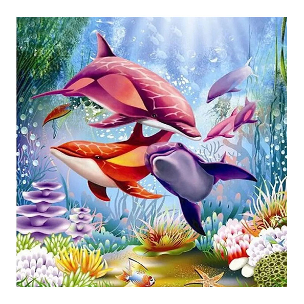 Hot Deal 6e87b Cartoon Dolphin Underwater World Diamond