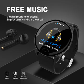 696 K9-WF Smart Bracelet Full Touch Blood pressure Heart Rate Monitor Smart Wristband Waterproof Bluetooth Sports Smart Watch image