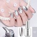 8 мл металлический зеркальный лак для ногтей Золотой Серебряный металлический эффект не может быть очищен без необходимости УФ-лампы 12 цвет...