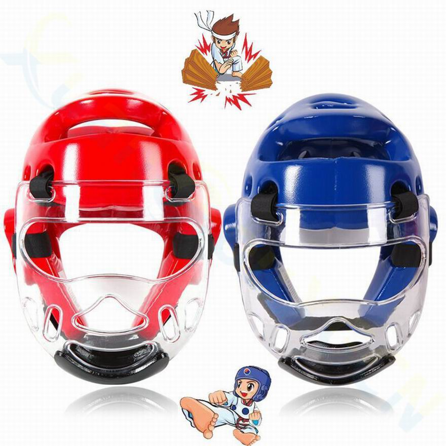 Taekwondo Headgear Thickening Karate Helmet Adult Children Sanda Boxing Training Helmet Mask Muay Thai Protective Gear Headguard