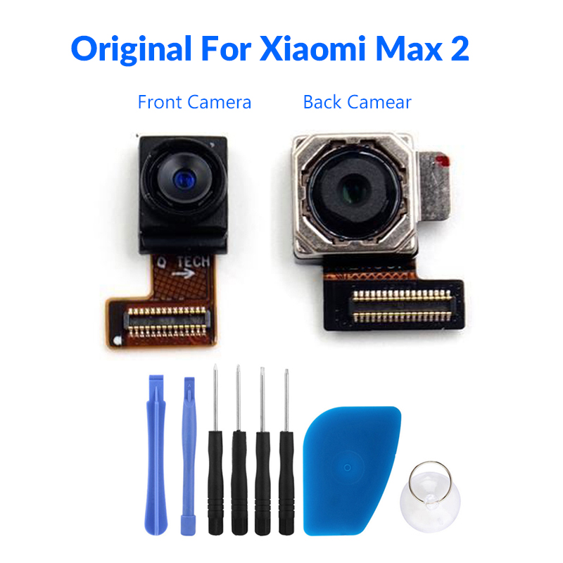 Tested Original For Xiaomi Mi Max 2 Front Small Rear Big Back Camera Module Mobile Phone Replacement Part Lens Repair