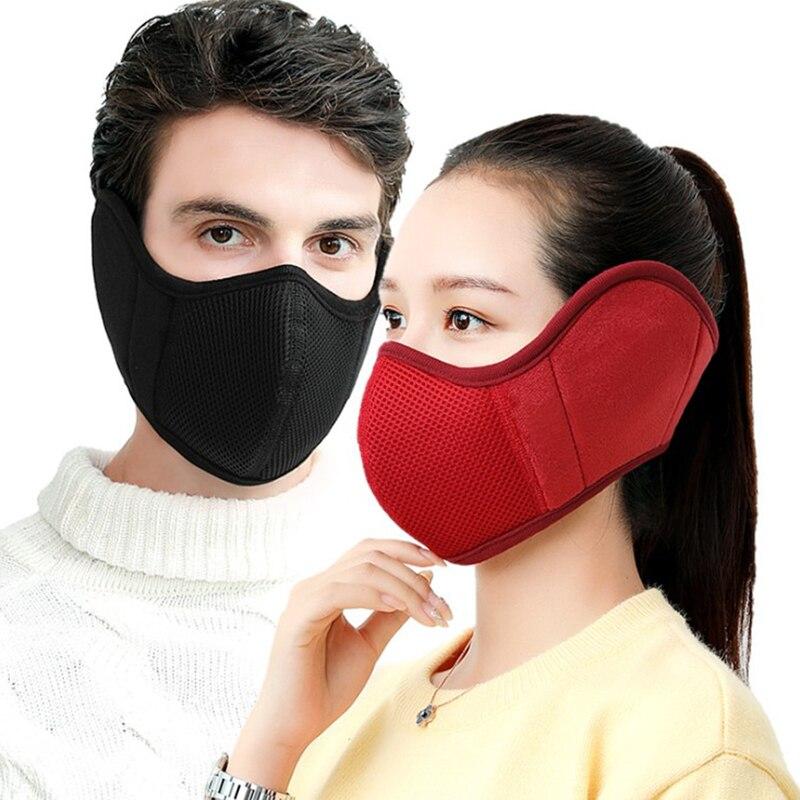 2020 Men Women Winter New Dust Mask Outdoor Riding Warm Motorcycle Ear Protection Sponge Mask Earmuffs Sports Mask Windproof