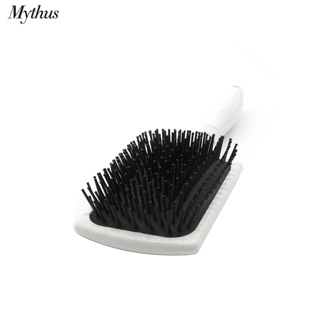 Купить с кэшбэком Mythus Hair Scalp Massage Paddle Brush Big Cushion Air Bag Hairbrush Ball Tip Hair Tangle Brush Antistatic Comb In 2 Colors M-97