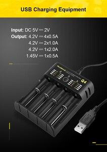 Image 5 - Voxlink 18650 carregador de bateria 5v2a com cabo usb carregamento rápido 26650 18350 21700 26500 22650 li ion recarregável carregador de bateria