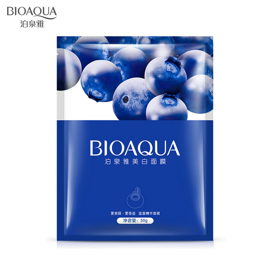 BIOAQUA Hyaluronic Acid Snails Eggs Aloe Blueberry Essence Facial Mask Sheet Multi-style Whiten Moisturize Oil Control Face Mask