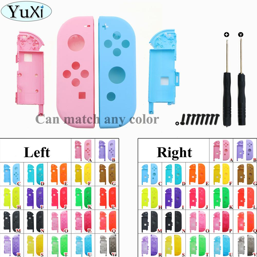 YuXi Pink purple Blue Yellow green For Nintend Switch NS Joy Con Replacement Housing Shell Cover for NX JoyCons Controller Case(China)