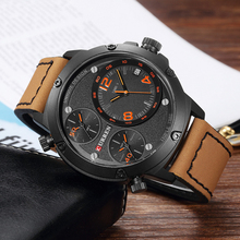 New CURREN Mens Watch Top Brand Luxury Military Sports Waterproof Leather Quartz Erkek Saat Relogio Masculino