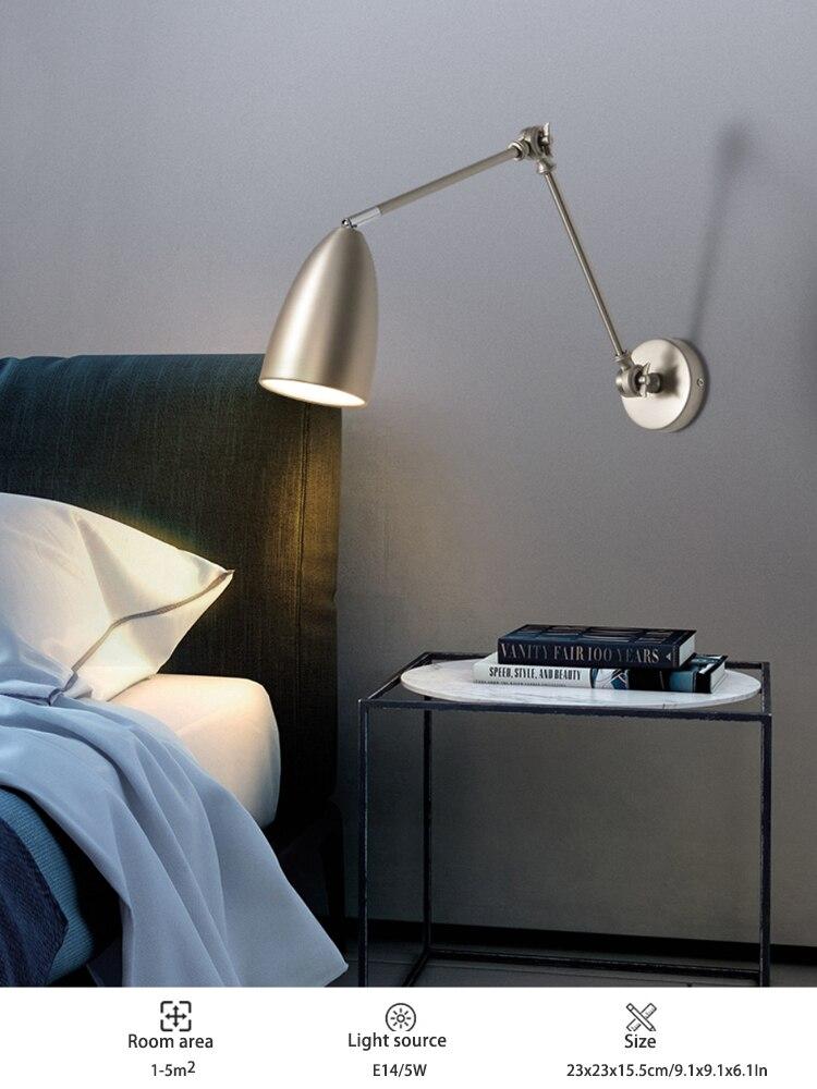 Com balancim lâmpada de parede quarto lâmpada