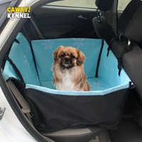 Cawayi canil pet portadores cão assento do carro capa de transporte para cães gatos esteira cobertor traseiro volta protetor rede transportin perro