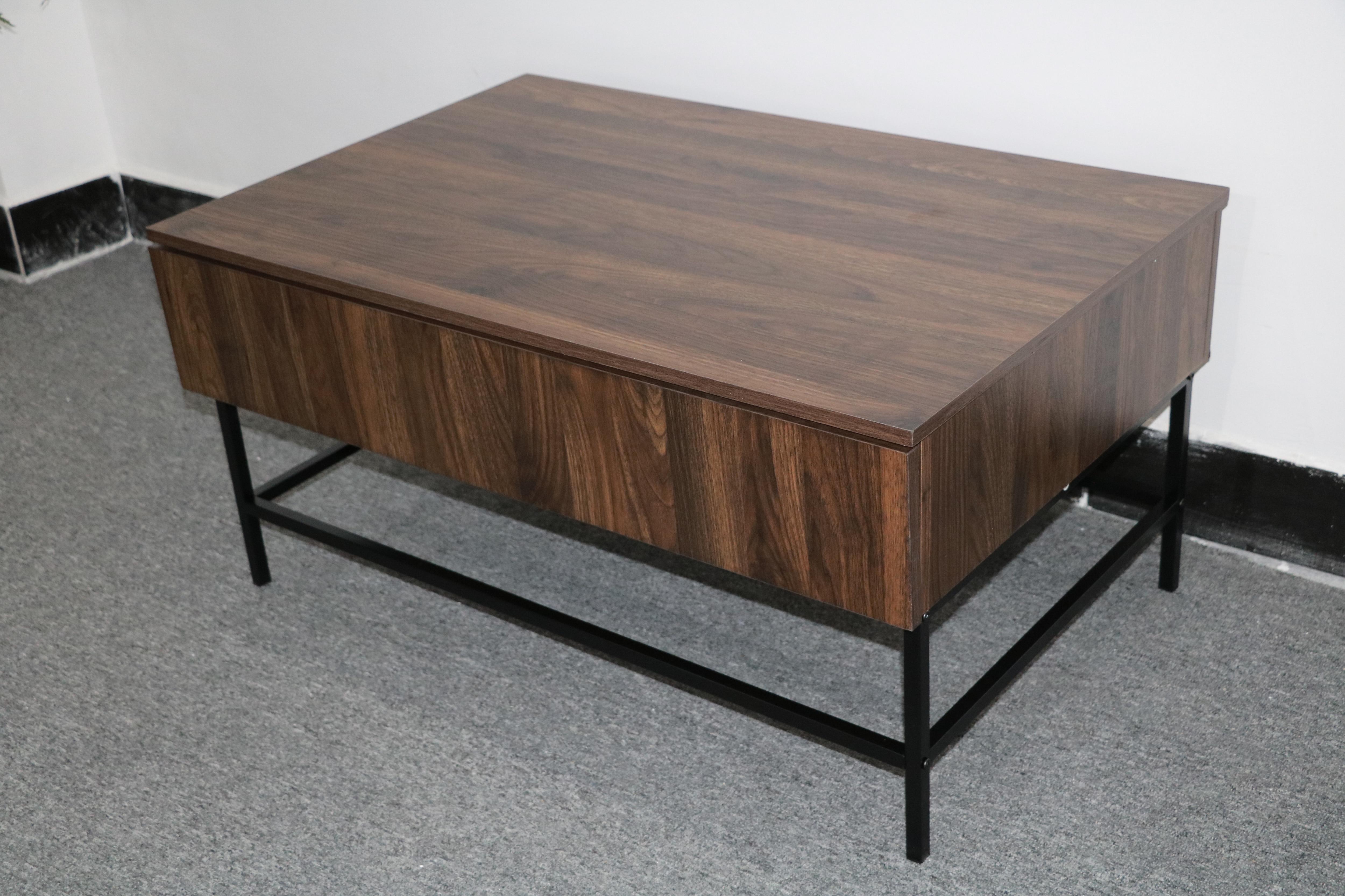 Coffee Table Basse De Salon Nordic Modern Tea Table Canyon Walnut Color Mesa De Centro Mesa Desk 2 Drawers 91x60x45cm Iron Legs Coffee Tables Aliexpress