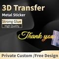 Пользовательские наклейки s 3d логотип металлический переводной УФ-клейкий стикер персонализированные этикетки самодельные наклейки водон...