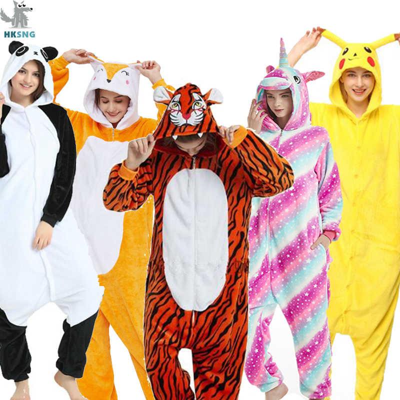 HKSNG Adulto Animale Kigurumi Panda Gatto Pikachu Tute monopezzo Kung Fu Punto Pigiama di Flanella Famiglia Del Partito di Cosplay Costumi Tute e Tute da Palestra