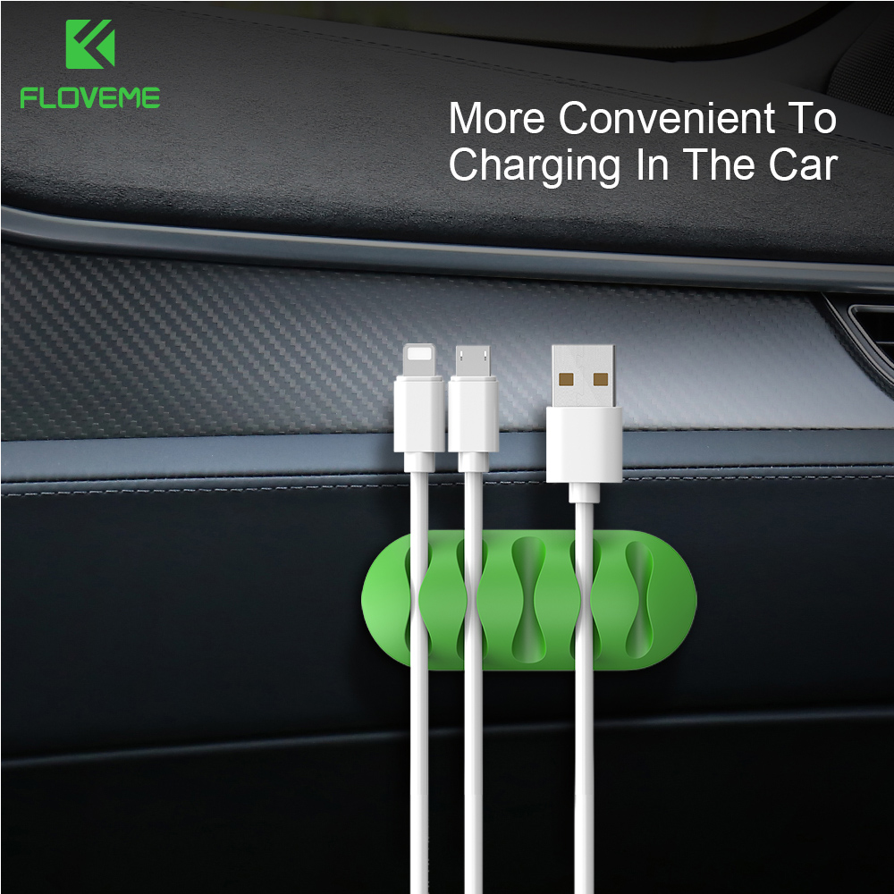 Phone Earphone GPS Charge Cable Wire Cord Clip Cable Holder Tie Fixer Line Clamp