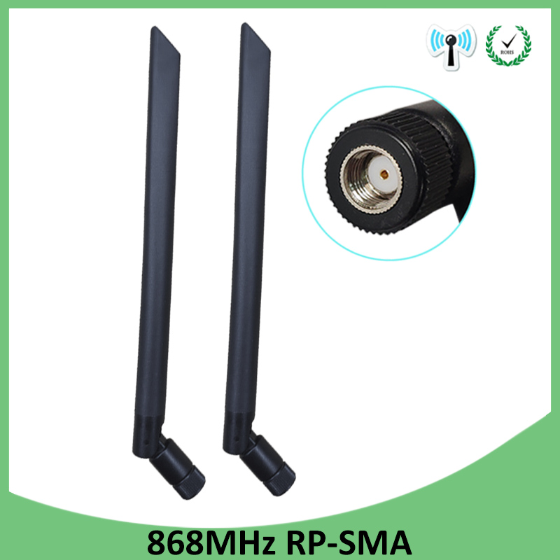 2pcs 868MHz 915MHz Antenna 5dbi RP-SMA  Connector GSM 915 MHz 868 MHz Antena Outdoor Signal Repeater Antenne Waterproof Lorawan