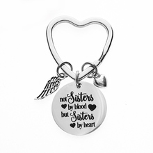 DICARLUN лучший брелок с дизайном «Друзья» брелок дружба брелок сестра ювелирный подарок «не сестры по крови, а сестры по сердцу»