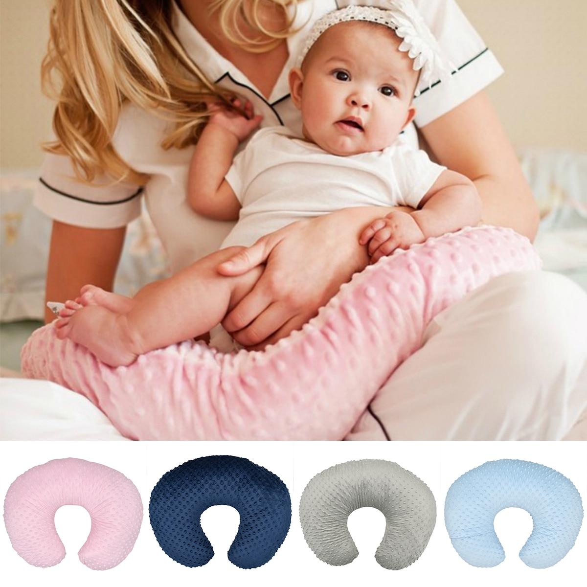 Memory Coral Fleece Pillow Neck U-Shape U Shaped Headrest Car Flight Travel Soft Nursing Cushion Baby Pillow