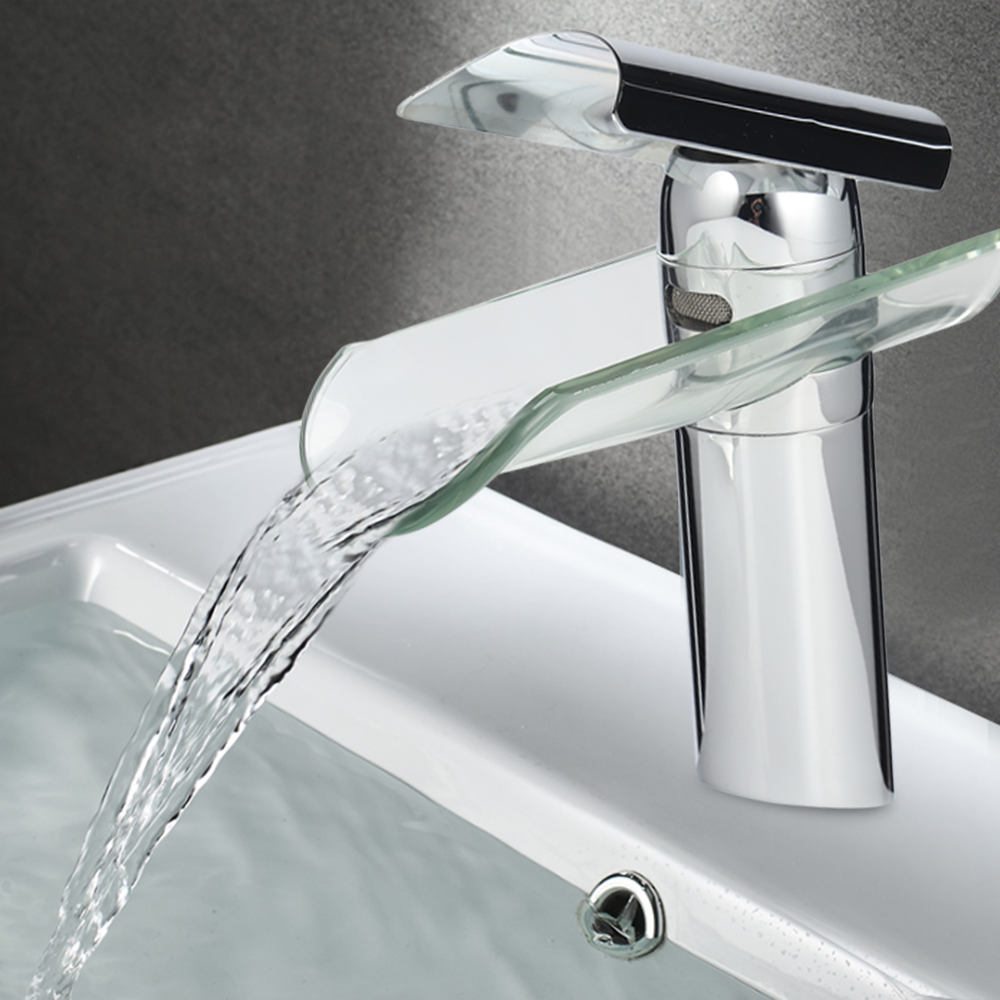 New Tile Type Stainless Steel Household Bathroom Waterfall Faucet Kitchen Faucet Single Handle Basin Mixer Tap