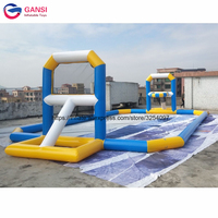 Durable inflatable basketball game pitch 12x6m inflatable water basketball court for swimming pool
