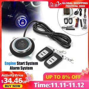 Image 1 - Audew Car Engine Start Stop SUV Keyless Entry Engine Start Alarm System Push Button Remote Starter Stop Auto Car Accessories