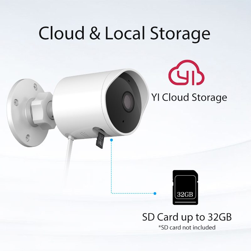 Image 5 - YI Outdoor Security Camera SD Card Slot &Cloud IP Cam Wireless 1080p Waterproof Night Vision Security Surveillance System White-in Surveillance Cameras from Security & Protection