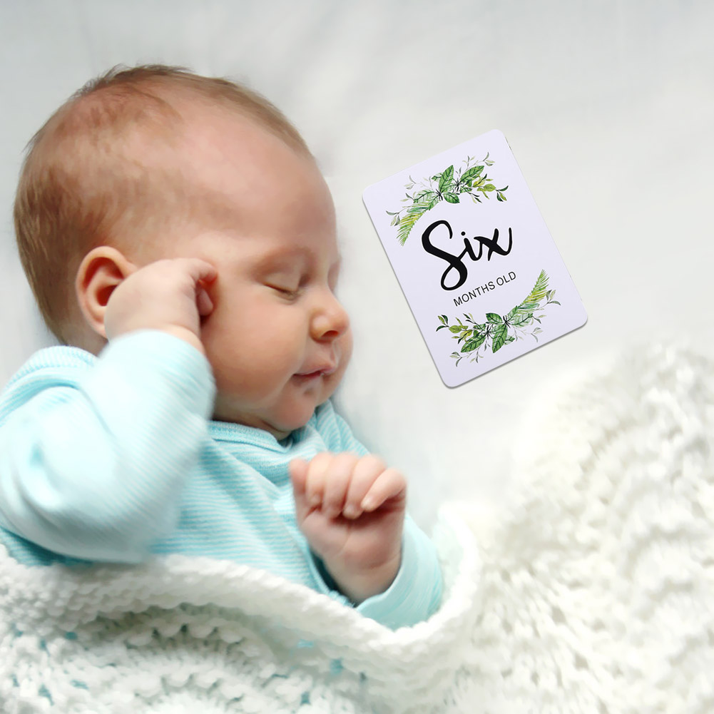 12pcs Baby Monthly Stickers Lightness And Portability No Space Occupy Pregnant Women 1-12 Milestone Memory Photograph Prop