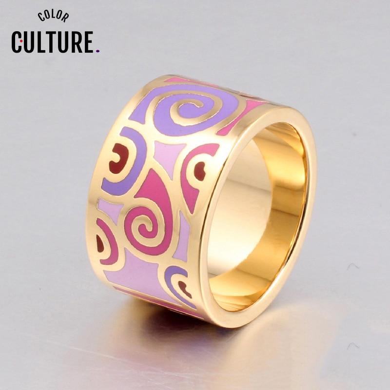 2020 mode ringar för kvinnor förgylld emaljring smyckesdesigners Elegant klassisk halsduk Ring födelsedag present till kvinnor