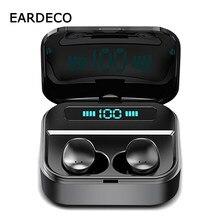 Eardeco 2200mah power bank tws fones de ouvido bluetooth no ouvido 6d estéreo sem fio fones de ouvido jogo música fone com microfone ipx7