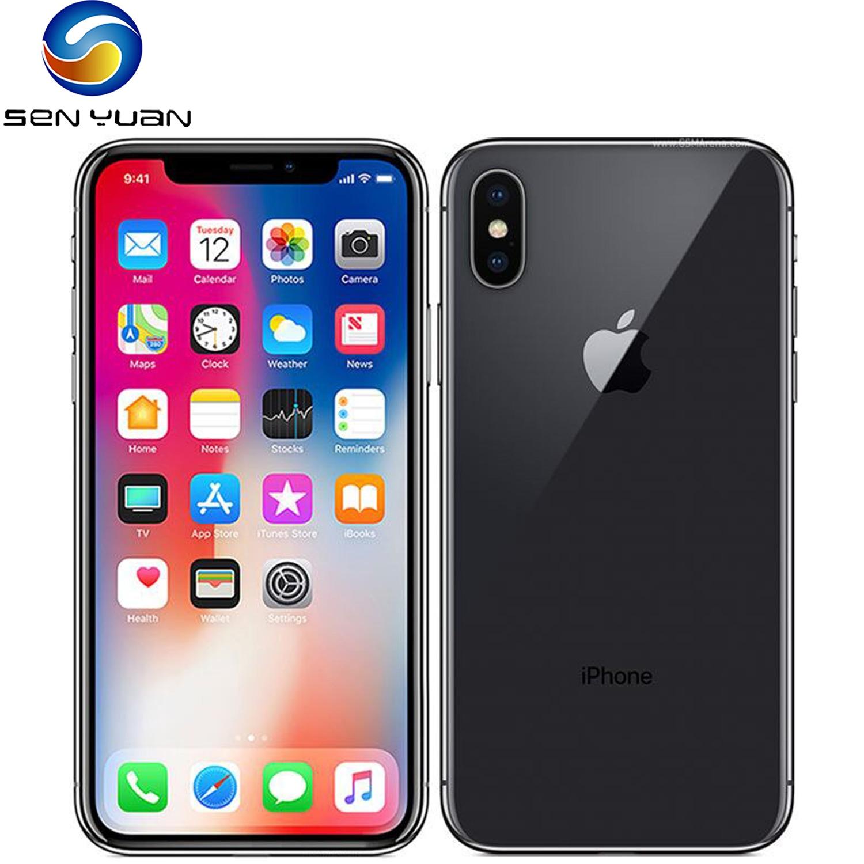 Оригинальный Apple iPhone X GSM, разблокированный, 4G LTE, 5,8 дюйма, двойная тыловая камера, 12 МП, 3 Гб ОЗУ, 64 ГБ/256 Гб ПЗУ, сотовые телефоны с функцией расп...