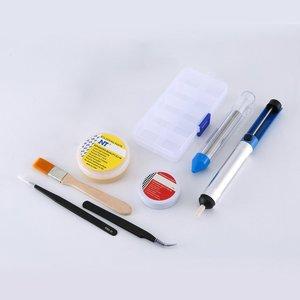 TS100 65W Mini zestaw do lutowania elektrycznego cyfrowy wyświetlacz OLED regulacja temperatury za pomocą stojak lutowniczy knot lutowniczy zestaw