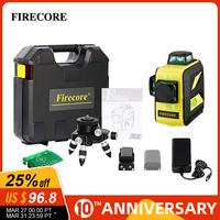 FIRECORE Lithium Battery 12Lines 3D F93T XR F93T XG Suitcase Red/Green Laser Level +Fine Tuning Base/2 in 1 bracket