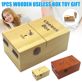 Electronic Useless Box Wooden Boy Girl Kid Interesting Pastime Machine Stress Reduction Funny Toy Desk Decoration Gifts