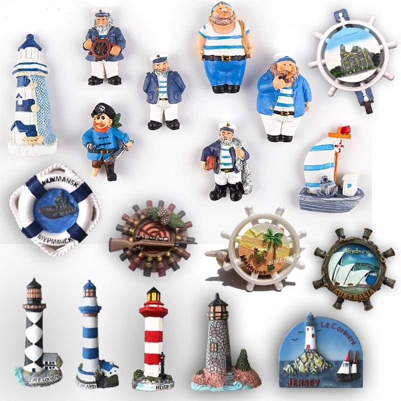 Магнит на холодильник, морской ветер, моряк, капитан, Круизный корабль, сувениры, украшение на холодильник