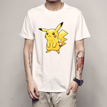Cheap 3D print Pokemon Game Black Anime Men t-shirt fast shipping plus size name brand logo 2018 funny male gift tshirt costume цена 2017