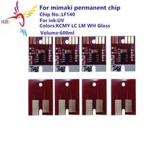 LF140 UV permanent chip for  Mimaki JFX-1631/UJV-160/UJF-3042 printer permanent chip LF140 UV Compatible for Mimaki printer use for lexmark e250 e350 e450 laser printer refill cartridge chip for lexmark e250a21p e 250 350 450 toner chip free shipping