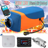 12V 5KW Air Diesels Heater Parking Air Heater With Remote LCD Digital Display for Boat Motorhome Trailer Silencer For Free