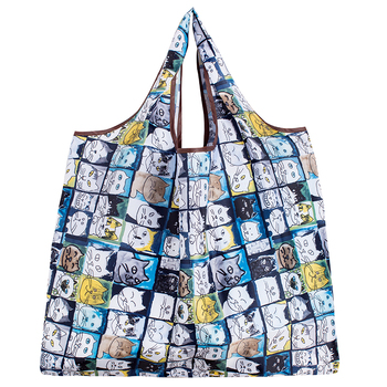 Ανθεκτική Αναδιπλούμενη Νάιλον Τσάντα Μεγάλου Μεγέθους Πολλαπλών Χρήσεων για Ψώνια Φορητή Καθημερινή Φορητή Τσάντα Ώμου για Αγορές που Διπλώνει σε Πορτοφολάκι Τσέπης