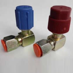 Pair 90 Degrees A/C 7/16L 7/16H R12 To R134a Adapter With 2 Protective Caps