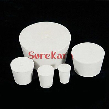 2pcs 8/12.5mm Rubber Stopper For Laboratory Test Tube Solid Bungs Airlock Lab Use image