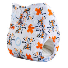 Baby Cloth Diapers Eco-friendly Diaper Cover Wrap Baby Training Pants Travel Alvababy Pants Washable Reusable Fit 3-15 kg abdl(China)