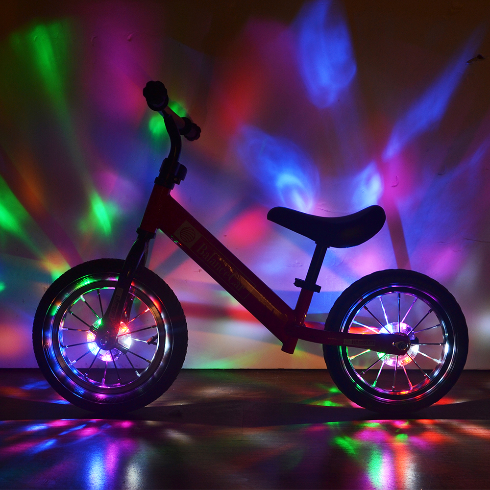 Colorful Bicycle Hubs Light 32 Modes Flashing USB Rechargeable Bike Hub Light Children Balance Bike Waterproof Bike Wheel Light