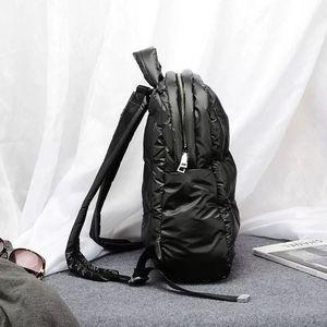 Image 5 - 2020秋と冬の新韓国ブームファッション宇宙の綿の空気大容量防水ビジネスバックパック