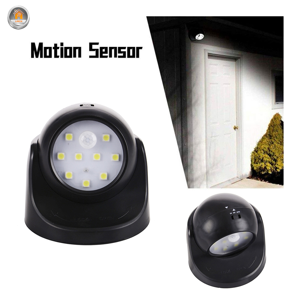 LED Night Light Smart PIR Motion Sensor Wall Light 360 Degree Rotation Wireless Detector Light Fixtures Hallway Stairs Lamp