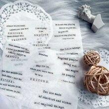2 шт \ наборы простой ретро английский письмо симпатичные украшения наклейки DIY Ablum Дневник скрапбукинг канцелярские этикетки