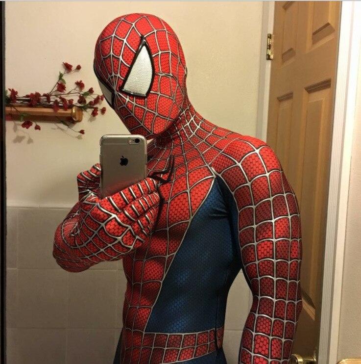 Spider-Man 3 Raimi Spiderman Costume Cosplay Superhero Zentai Bodysuit Jumpsuits Halloween Costume Spider Suit For Kid Adult Men
