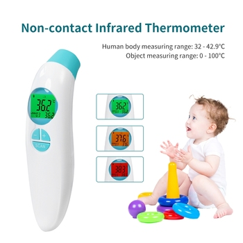 In Stock Baby/Adult Digital Termomete Infrared Forehead Body Thermometer Gun Non-contact Temperature Measurement Device Termómet