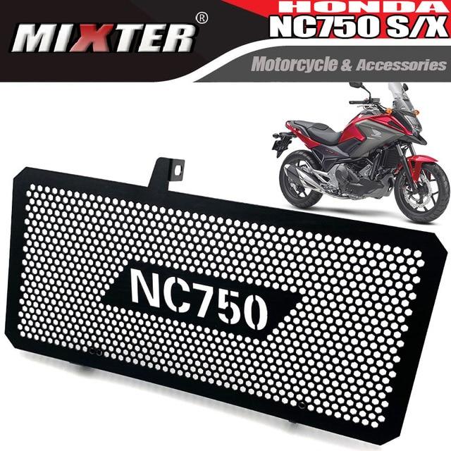 يناسب لهوندا NC750 2018 NC750S NC750X NC750 S/X 2014 2019 دراجة نارية الفولاذ المقاوم للصدأ المبرد الحرس المبرد الغطاء الواقي