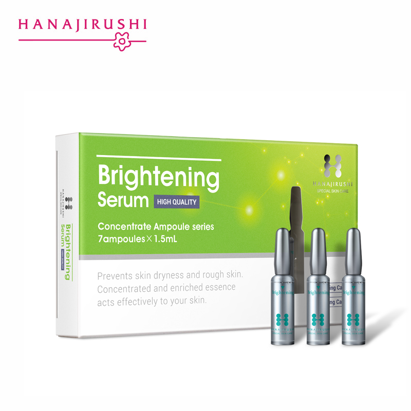HANAJIRUSHI Brightening Serum Whitening Face Serum Ampoule Moisturizing Anti-Aging Wrinkle Lifting Firming Skin Essence 1.5ml*7