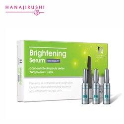 Hanajirushi que ilumina o soro que clareia a ampola do soro da cara hidratante anti-envelhecimento do enrugamento que levanta a essência firmando da pele 1.5ml * 7