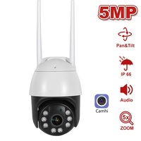 5MP Security IP Camera WIFI Auto Tracking 5MP HD Outdoor PTZ Camera Human Alarm Speed Dome Surveillance Two Way Audio H.265
