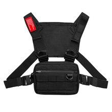 Saco de equipamento de peito pequeno ao ar livre streetwear cinta colete sacos de peito para homens womensport peito bolsa de bolso